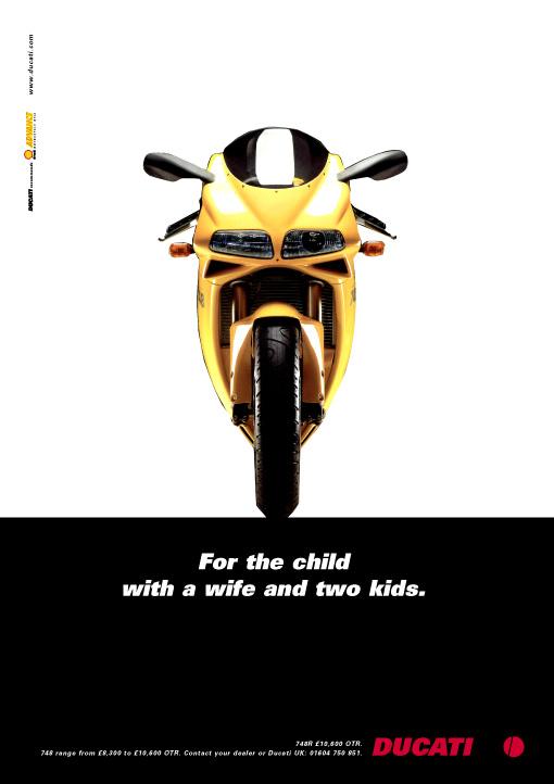 Ducati 748 advertisement, Ken Buckfield, Brighton based marketing consultant.