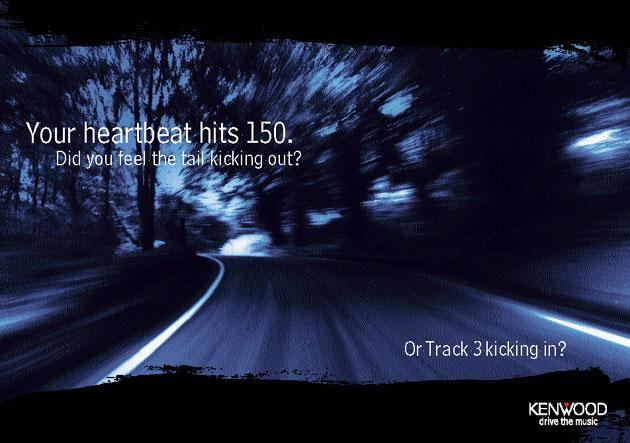 Kenwood Car audio hi fi poster, Ken Buckfield, Brighton based marketing consultant.
